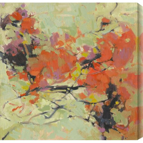 Dancing Dahlia II by Kim Coulter Painting Print Canvas