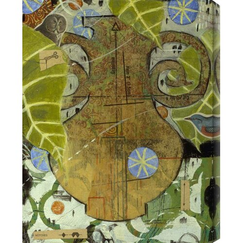 Sew Vase II by Judy Paul Painting Print Canvas