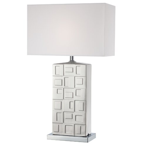 """Lite Source Keytouch 28.25"""" H Table Lamp with Rectangle Shade"""
