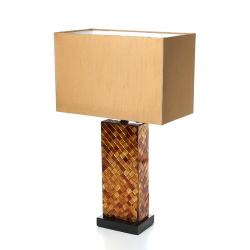 """Lite Source Shelette 22.25"""" H Table Light with Rectangle Shade"""