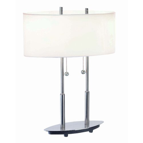 "Lite Source Bliss 18"" H Table Lamp with Drum Shade"