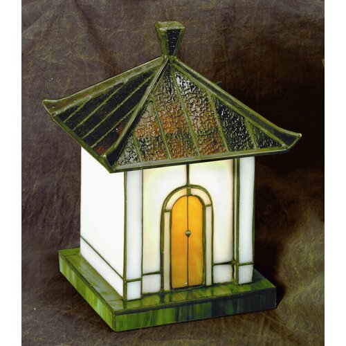 """Lite Source Pagoda Tiffany 8.5"""" H Accent Table Lamp"""