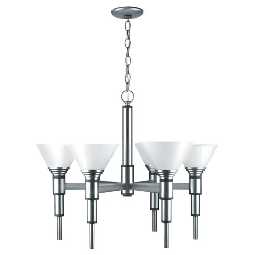 Lite Source Pillar 6 Light Chandelier