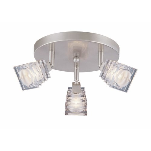 Lite Source Avis 3 Light Flush Mount