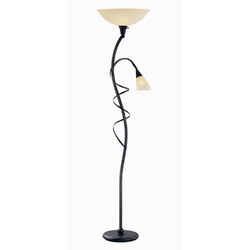 Lite Source Wavia Floor Lamp with Reading Lamp