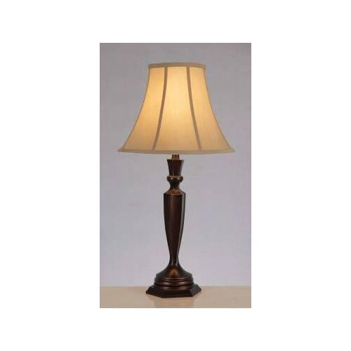 """Lite Source Dermot 30.5"""" H Table Lamp with Bell Shade"""
