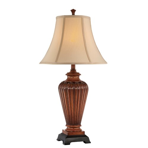 "Lite Source Magdalen 31.25"" H Table Lamp with Bell Shade"
