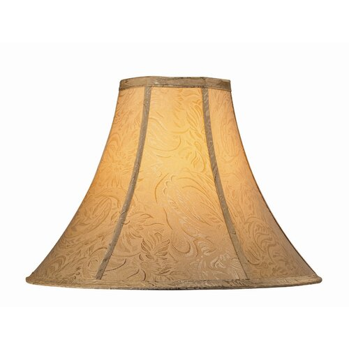 "Lite Source 18"" Jacquard Fabric Bell Shade"