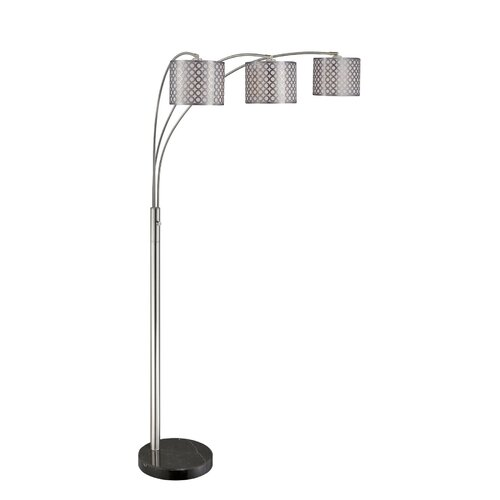 Lite Source Netto 3 Light Arch Floor Lamp