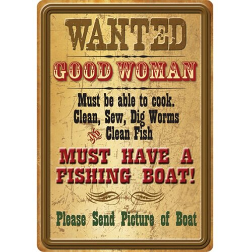 Wanted Good Women Tin Sign Wall Art