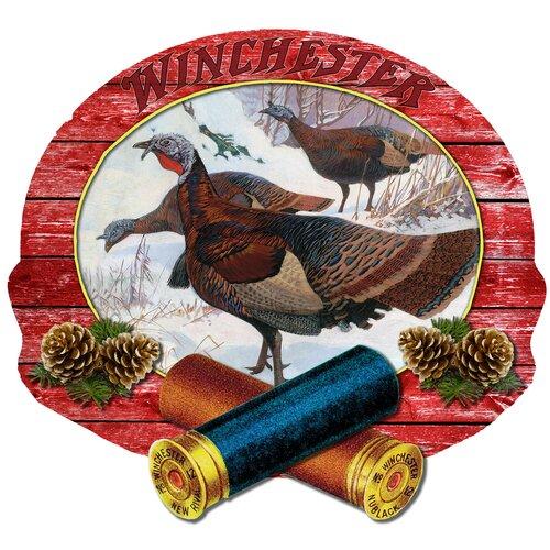 Winchester Winter Toms by Lynn Bogue Hunt 3D Sign Wall Art