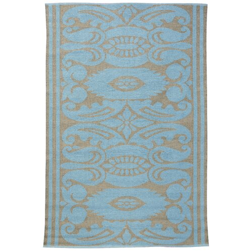 India Lead/Aqua Outdoor Rug
