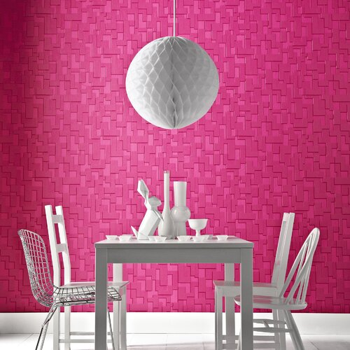 Graham & Brown Odyssey Checker Geometric Tiles Wallpaper