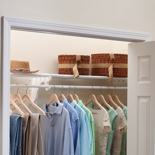 Rubbermaid 7 Rod Sliding Pants Rack For Closet Anizer In White