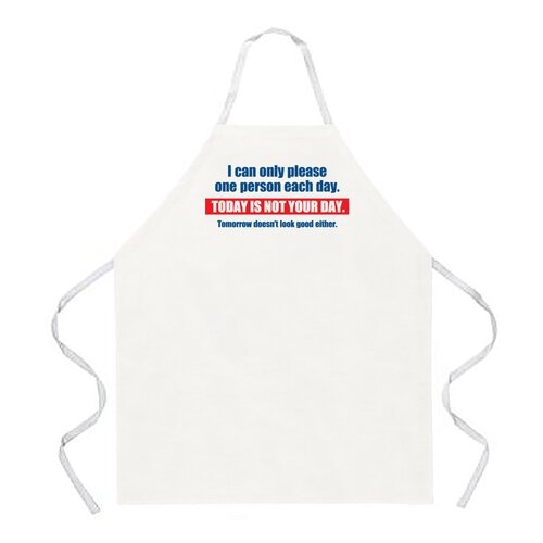 Attitude Aprons by L.A. Imprints Today is Not Your Day Apron