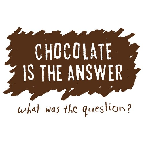 Attitude Aprons by L.A. Imprints Chocolate is the Answer Apron