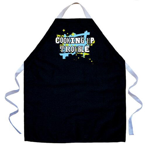 Attitude Aprons by L.A. Imprints Cooking Up Trouble Apron in Black