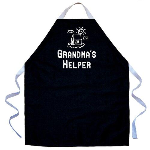 Grandma's Helper Apron in Black