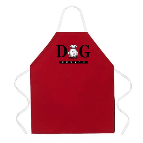 Dog Person Apron in Red