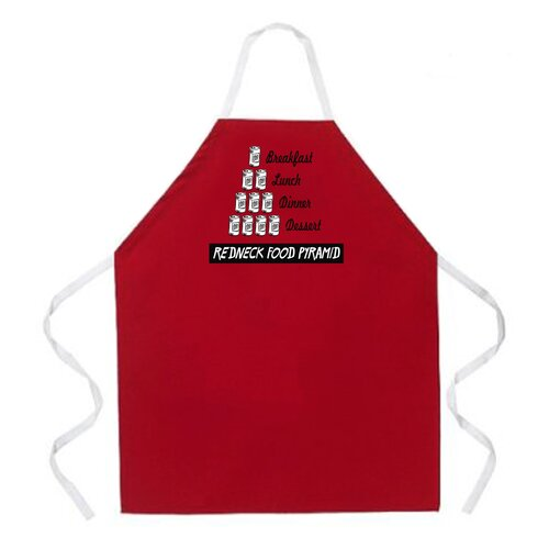 Redneck Food Pyramid Apron in Red