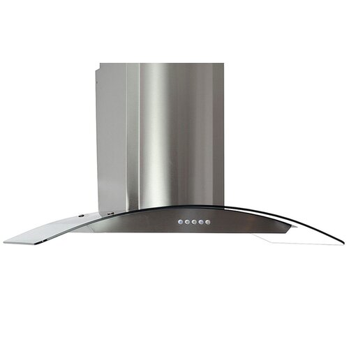 Wing 760 CFM 3-Speed Push Button Control Wall Mount Range Hood