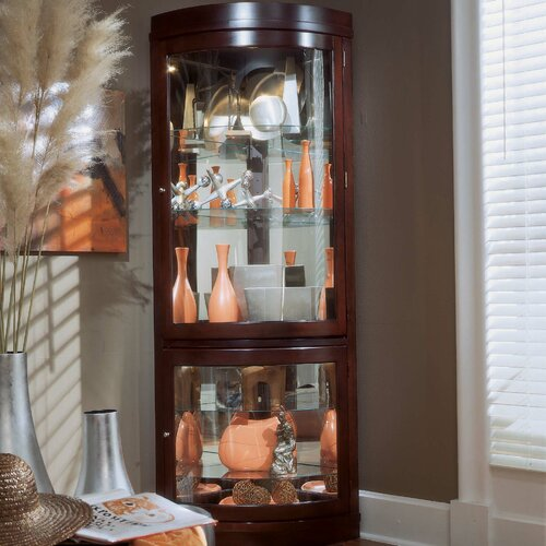 Pulaski Furniture Keepsakes Corner Curio Cabinet