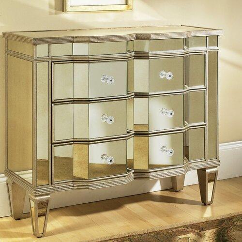 Pulaski Furniture Marquis Mirrored 3 Drawer Accent Chest