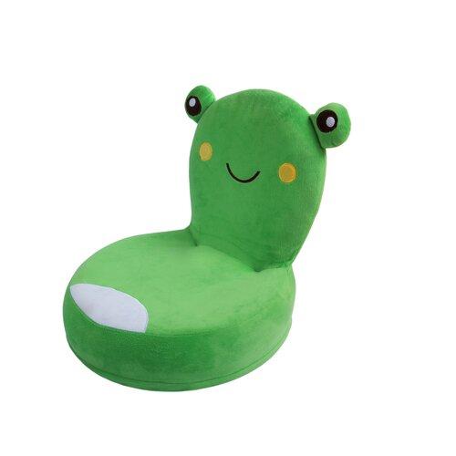 Critter Cushion Flat Frog Kids Chair