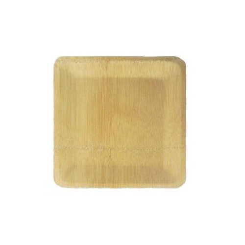 Bamboo Veneer Square Plate (100 Count)