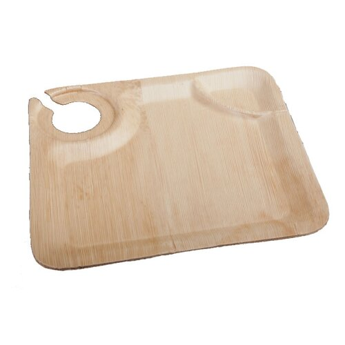 Bamboo Leaf Cup Holder Plate (50 Count)