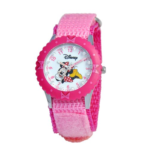 Girl's Glitz Minnie Mouse Time Teacher Watch