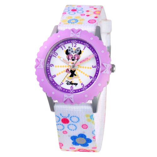 Disney Watches Girl's Minnie Mouse Time Teacher Watch