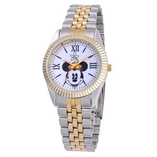 Disney Watches Kid's Minnie Mouse Two-Tone Status Large Watch