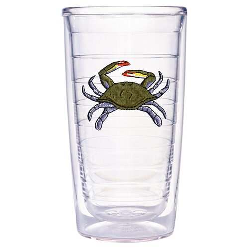 Tropical and Coastal Crab 16 oz. Insulated Tumbler (Set of 4)