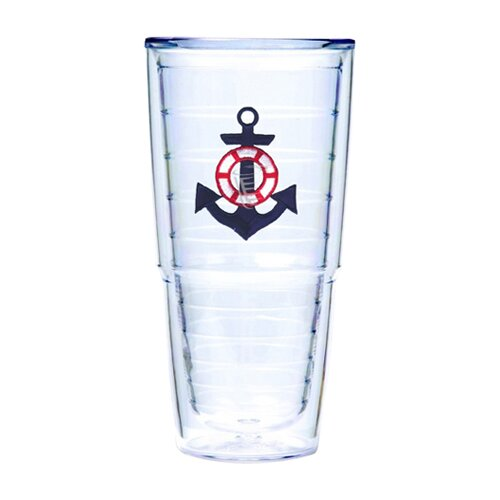 Nautical Anchor 24 oz. Big-T Insulated Tumbler (Set of 2)