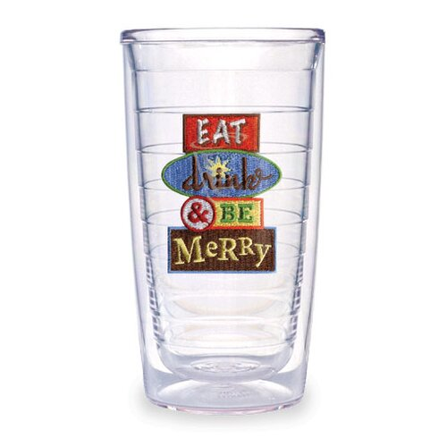 Tervis Tumbler Just for Fun Drink and Be Merry 16 oz. Insulated Tumbler