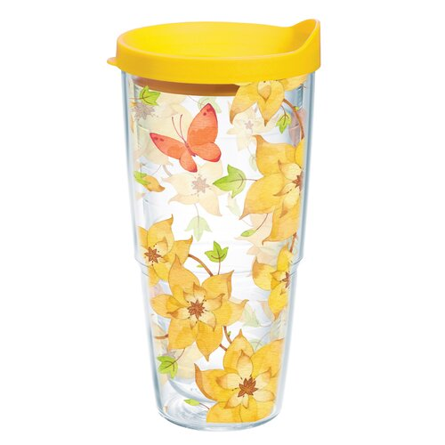 Tervis Tumbler Flower Butterfly 24 oz. Wrap Insulated Tumbler