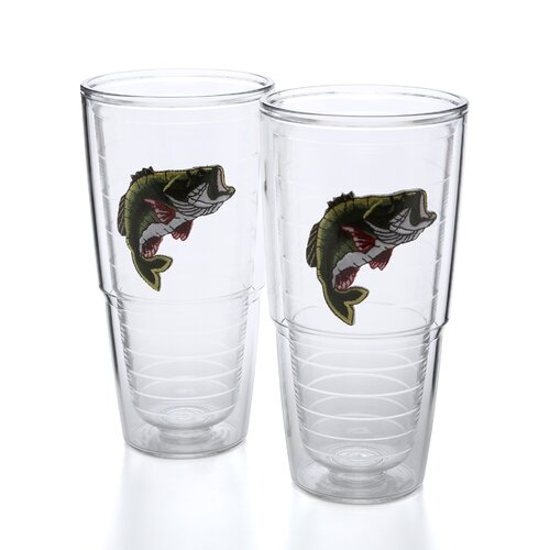 Tervis Tumbler Animals and Wildlife Bass 24 oz. Big-T Insulated Tumbler