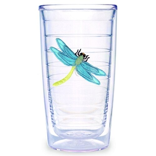 Garden Splendor Dragonflies 16 oz. Insulated Tumbler (Set of 2)