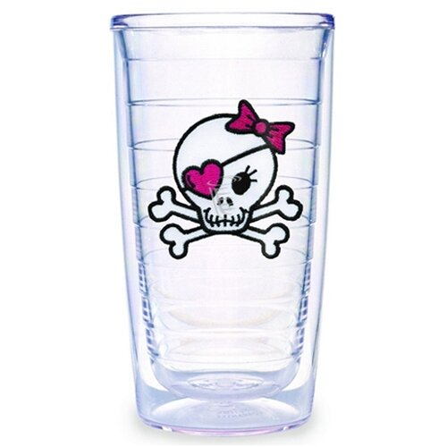 Tervis Tumbler Just for Fun Girl Skull and Crossbones 16 oz. Insulated Tumbler