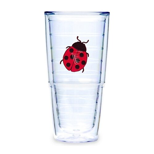 Garden Splendor Lady Bug 24 oz. Big-T Insulated Tumbler (Set of 2)