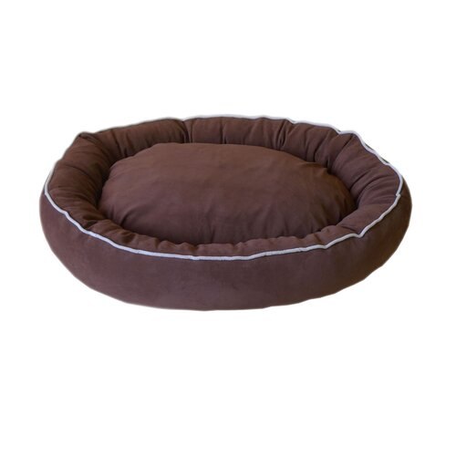 Zoey Tails Oval Lounge Bagel Donut Dog Bed