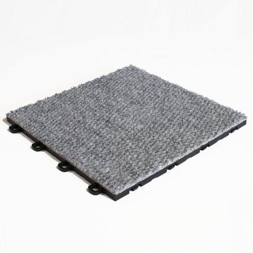 """12"""" X 12"""" Premium Interlocking Carpet Basement Floor Tile"""