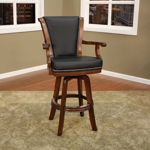 American Heritage Napoli Swivel Bar Stool with Cushion