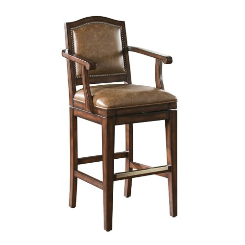 American Heritage Martinique Swivel Bar Stool with Cushion