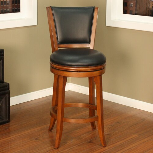 American Heritage Peyton Swivel Bar Stool with Cushion