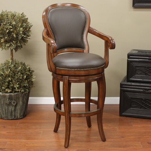 Santos Swivel Bar Stool with Cushion