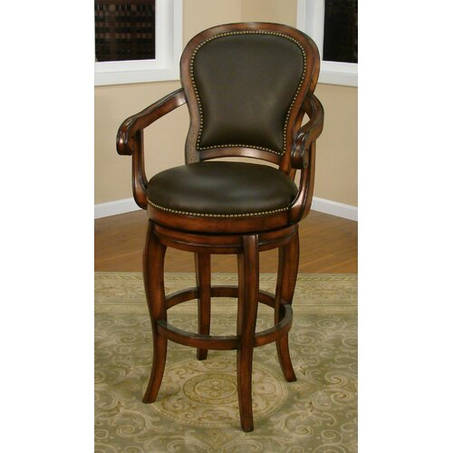 American Heritage Santos Swivel Bar Stool with Cushion