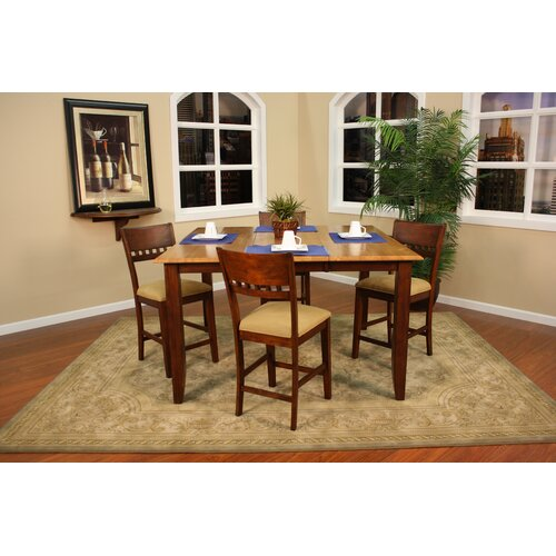 American Heritage Andria 5 Piece Counter Height Dining Set