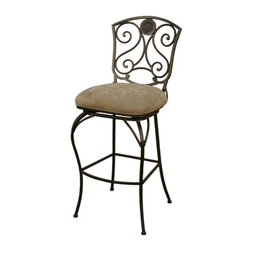 "American Heritage Canterbury 34"" Swivel Bar Stool with Cushion"